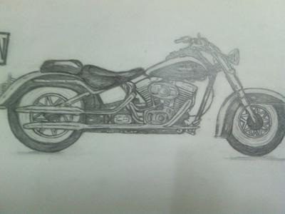Harley Davidson drawing