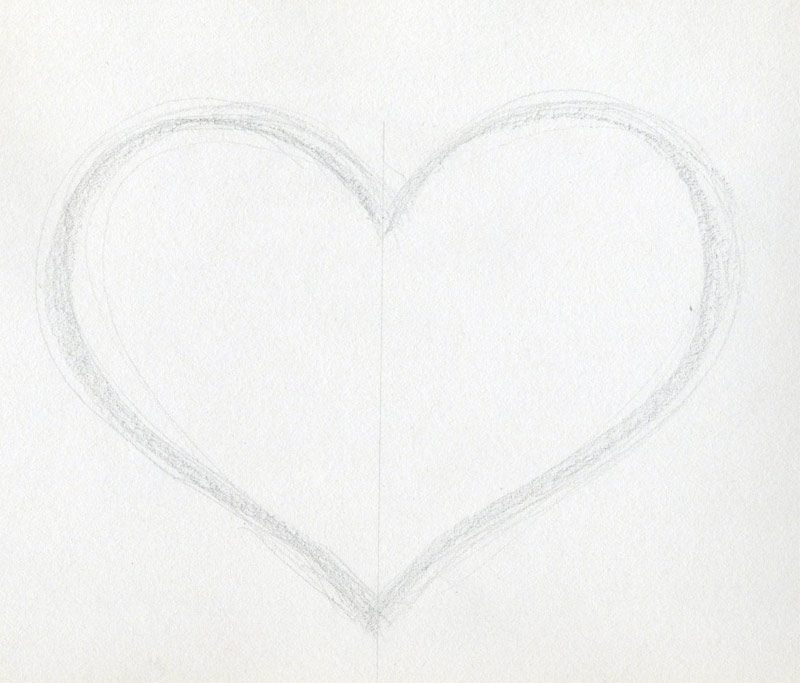 Draw A Heart Step By