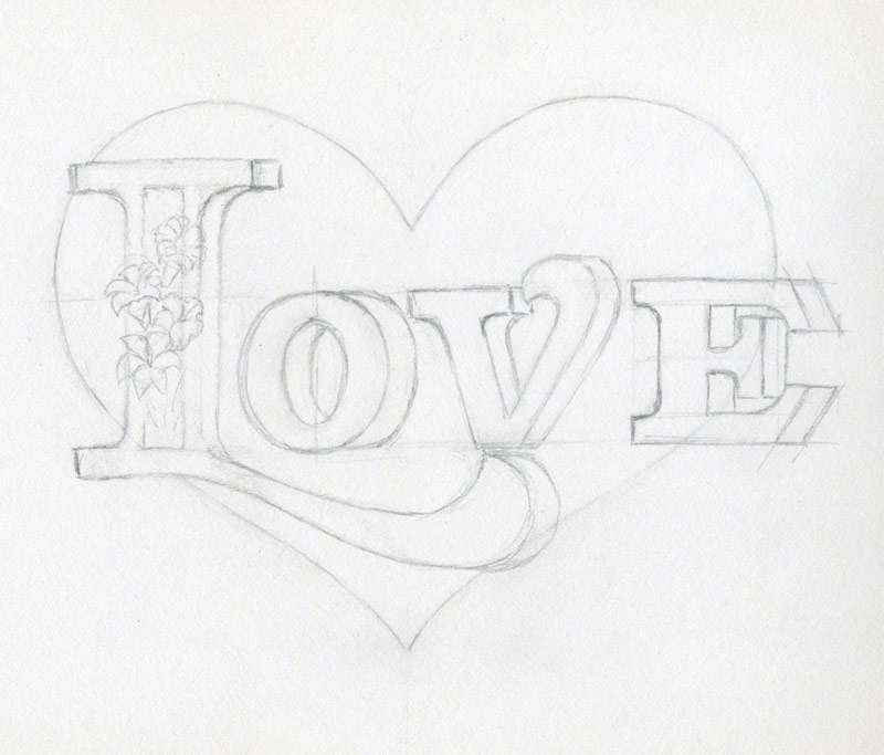 Learn to draw a heart very inspiring for Easy to make sketches