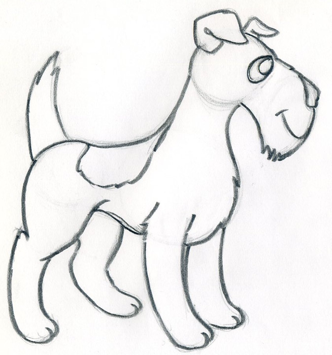 How to draw a cartoon dog - photo#8