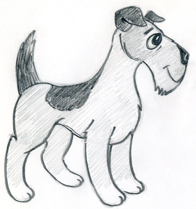 How to draw a cartoon dog - photo#11