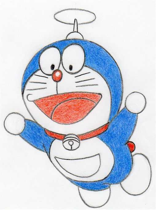 How To Draw Doraemon A Robotic Cat Coming From The Future