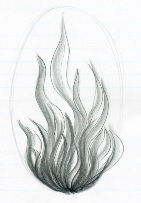 Learn how to draw flames