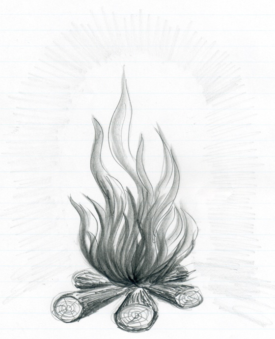 Line Drawing Fire : How to draw flames