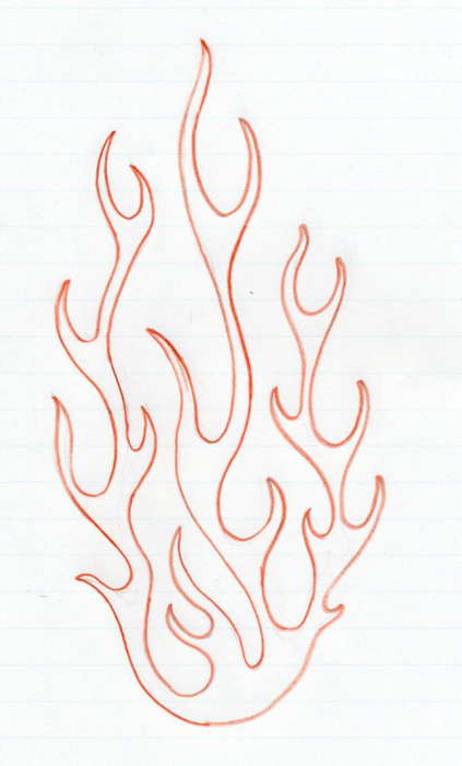 fire drawings design - photo #29