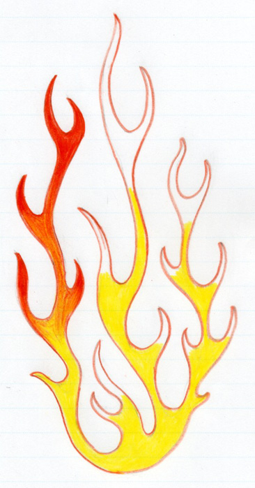 How To Draw FlamesFire Flames Drawing