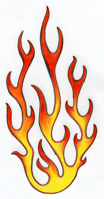 fire drawings design - photo #28