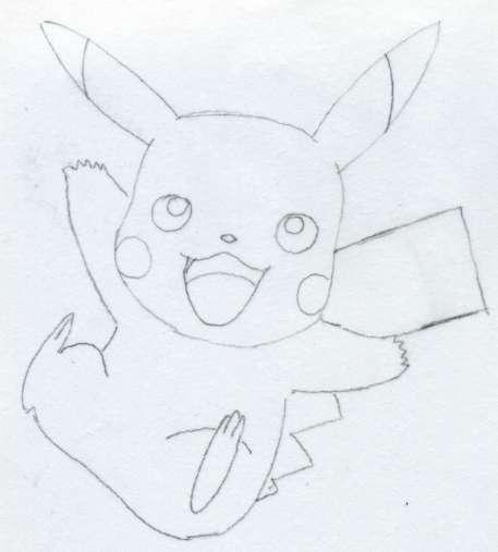 stepbystep process of how to draw pikachu