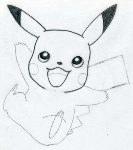 Easy Drawings: Draw Pikachu Quickly And Easily
