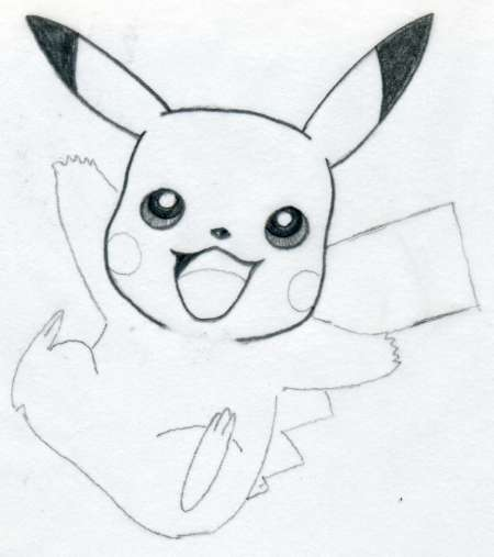 how to draw pikachu pictures
