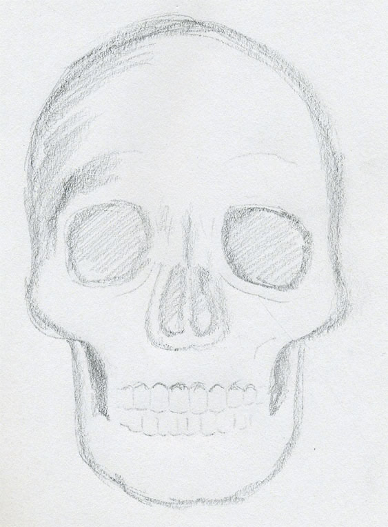 Draw skulls step by step