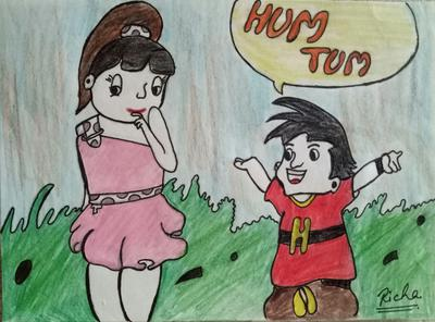 'HUM TUM' Cartoon2