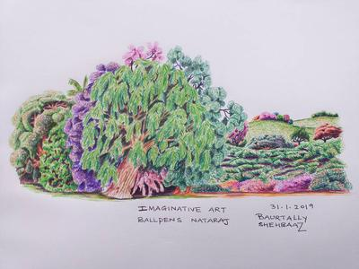 Imaginary art with colored ball pens2