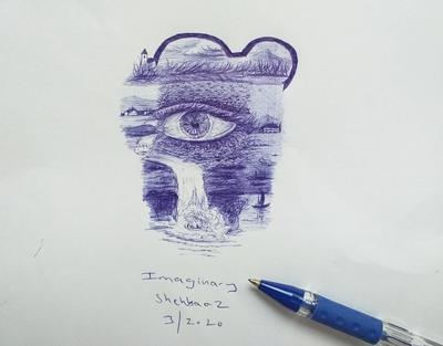 Imaginary art with ballpen