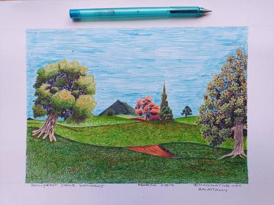 Imaginary art with ballpens.1