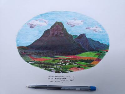 Imaginary art with ballpens Nataraj.