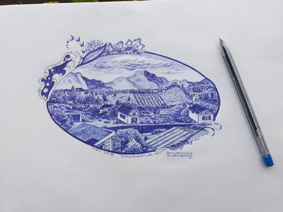Shehbaaz Baurtally's Ball Pen Drawings Gallery