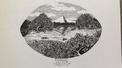 IMAGINATIVE ART OF LAKE, TREES