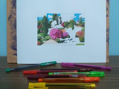 IN PROGRESS WITH COLORED BALLPENS
