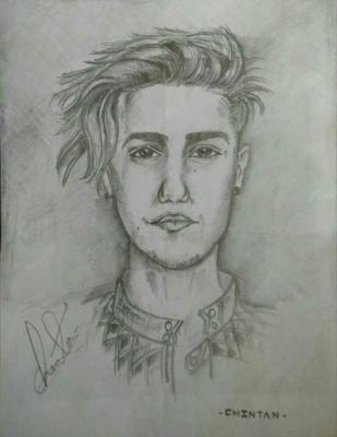 Chintan Devpurkar sketch of justin bieber