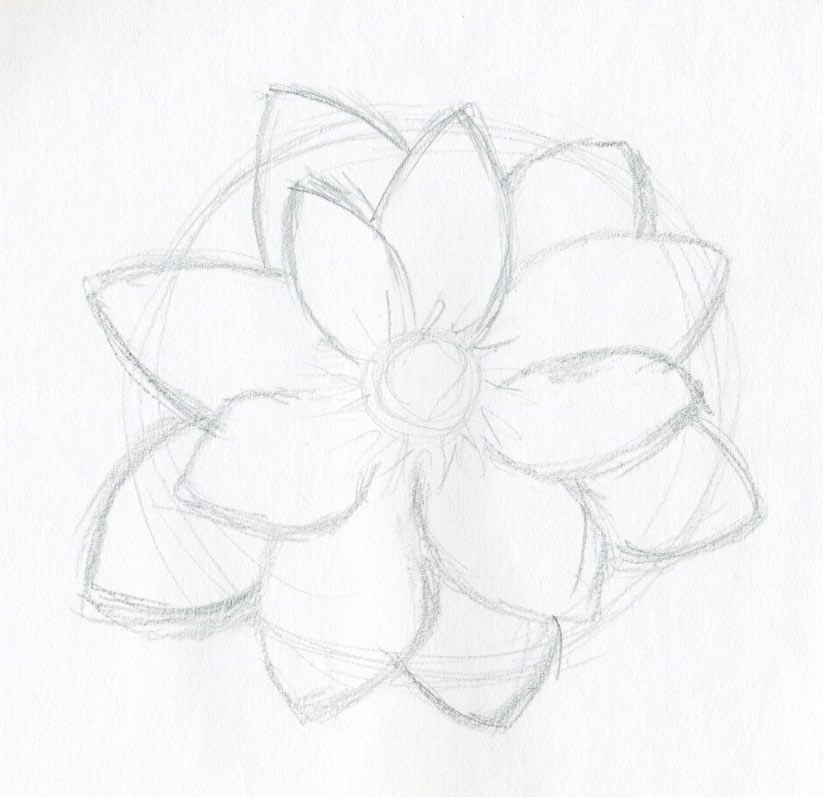 Lotus flower drawings made easy enjoy lotus flower drawings mightylinksfo