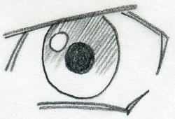 how to draw anime pupils