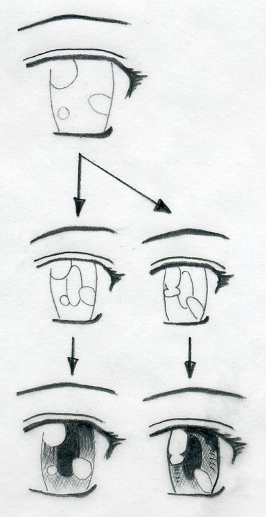 Sketches Of Eyes. how to draw manga eyes