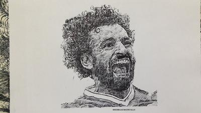 MO SALAH IN A DIFFERENT TECHNIQUE
