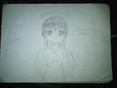 Angel Manga Drawing