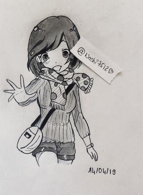 My Anime Girl Drawing Nashi7512