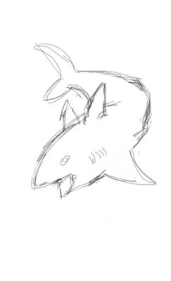My Digital Drawing of a Shark