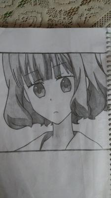 My first anime drawing....