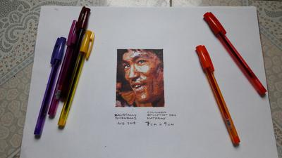 MY FIRST ART WITH COLORED BALLPOINT PEN