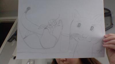 My First Cat Drawing
