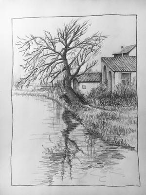 My first landscape pencil drawing