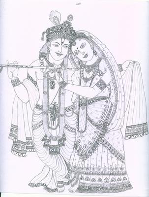 My first portrait of Radhakrishnan