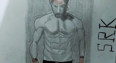 My first sketch of SRK