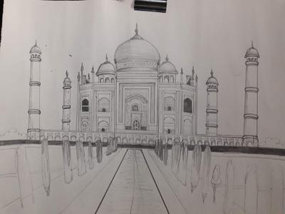 My first Tajmahal drawing