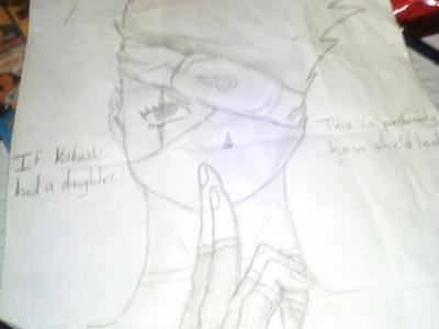 My imaginative perspective of how kakashi's daughter would look