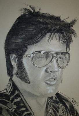 My Latest Drawing Of Elvis Presley