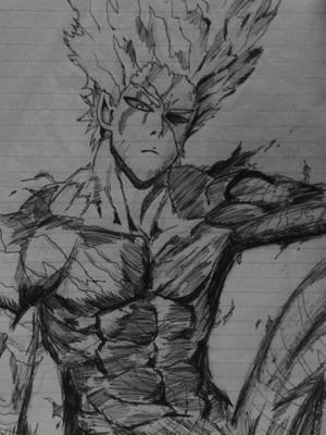 detailed drawing of Garou