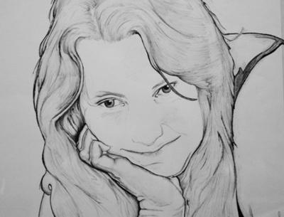 Kathy drawn in Pen and Ink  (June 2011)