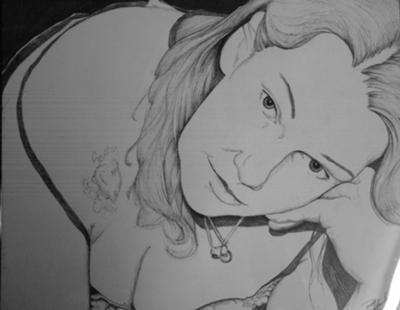Kathy done in Pen/Ink (July 2011)