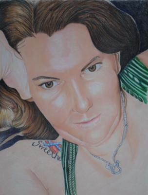 Kathy drawn in Color Pencils (June 2011)