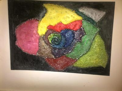 oill painting.  ROSE