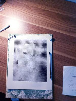 Own manmade halftone in progress