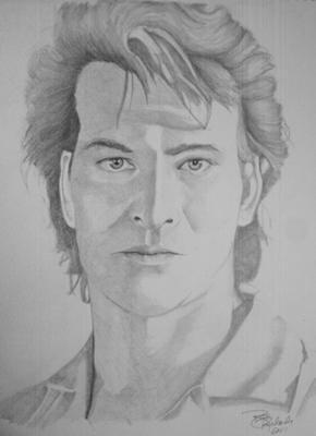 Pencil drawing of Patrick Swayze