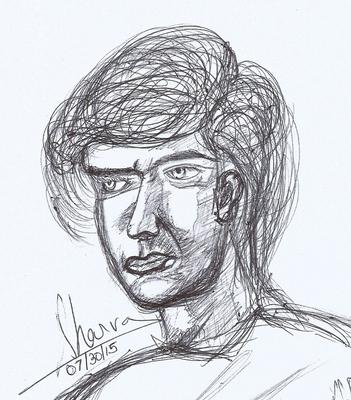 Potrait Drawing using a Pen only