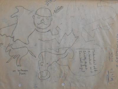 sketch found on bathroom floor