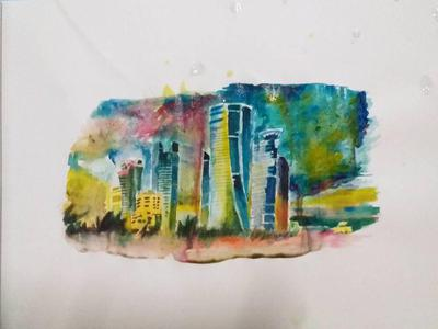 Quick and simple watercolor art